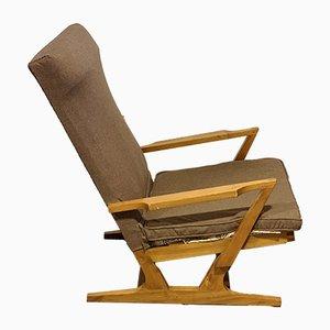 Vintage Scandinavian Armchair with Elm Frame, 1960s