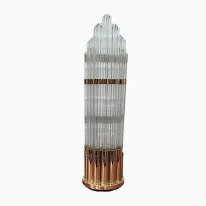 Vintage Lampe aus Glasröhren, 1980er