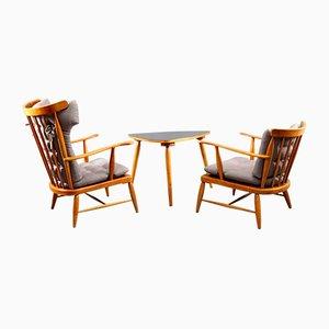 Juego de mesa y sillas de Josef Frank, 1949