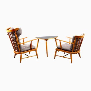 Tisch & 2 Sessel von Josef Frank, 1949