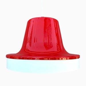 Grande Lampe à Suspension en Plastique et en Métal, 1960s