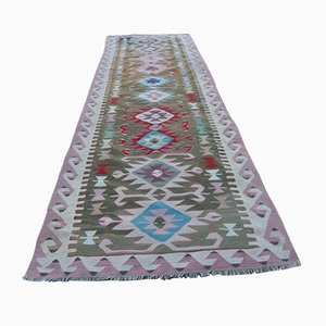 Vintage Turkish Oushak Kilim Runner