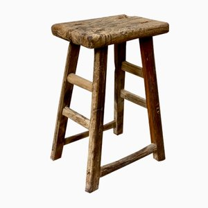 Vintage Wooden Stool, 1930s