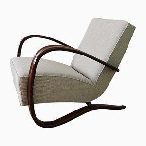 Beech Bentwood H-269 Lounge Armchair by Jindřich Halabala, 1950s