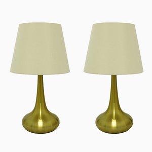 Lámparas de mesa Orient escandinavas modernas grandes de Jo Hammerborg para Fog & Mørup, años 60. Juego de 2