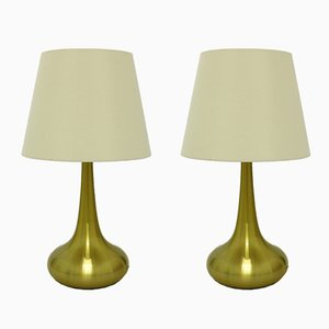 Large Scandinavian Modern Orient Table Lamps by Jo Hammerborg for Fog & Mørup, 1960s, Set of 2