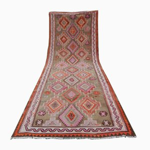 Turkish Pink Kilim Runner, 1970s