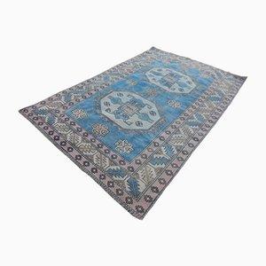 Großer türkischer Mid-Century Teppich in Pastell