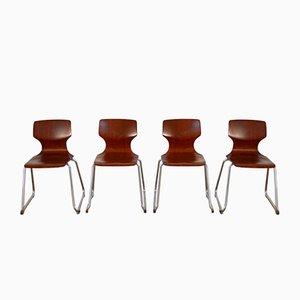 Chaises Vintage par Elmar FLötotto pour Pagholz FLötotto, 1960s, Set de 4