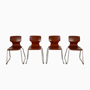 Vintage Chairs by Elmar FLötotto for Pagholz FLötotto, 1960s, Set of 4