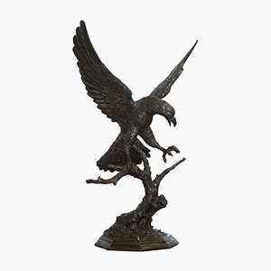 Solid Bronze Eagle Statue by Jules Moigniez, 1860s