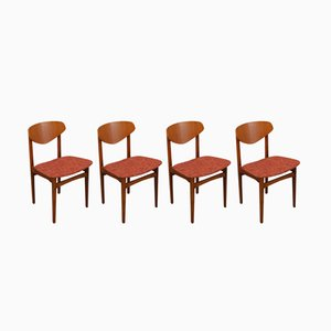 Sedie Butterfly Mid-Century, anni '60, set di 4