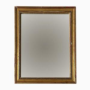 Antiker goldlackierter Spiegel aus Eiche