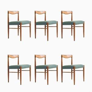 Mid-Century Esszimmerstühle aus Teak von HW Klein für Bramin, 6er Set