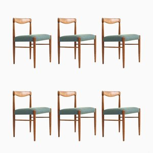 Mid-Century Teak Dining Chairs by HW Klein for Bramin, Set of 6