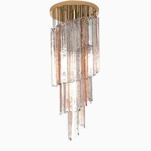 Spiralenförmige Deckenlampe aus Muranoglas von Mazzega, 1970er