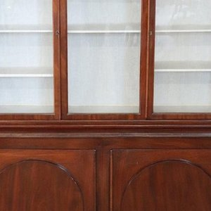 Antique Mahogany Bookcase or Vitrine, 1880s