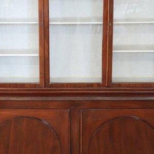 Libreria o vetrina antica in mogano, fine XIX secolo