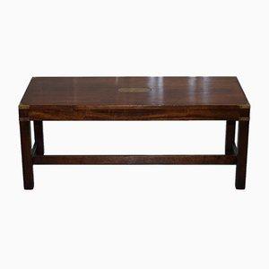Couchtisch aus Mahagoni im militärischen Stil von Kennedy Furniture, 1980er