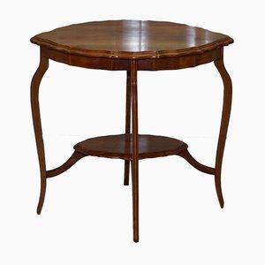 Table d'Appoint Antique en Bois de Satin