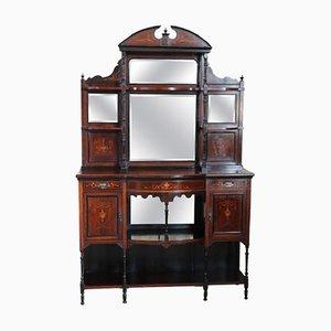 Mueble de recibidor inglés de palisandro con incrustaciones, años 20
