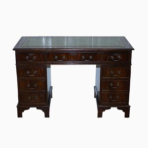 Antique Mahogany Twin Pedestal Partner Desk from Brights of Nettlebed