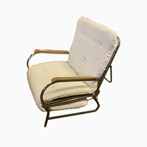 Bauhaus Fold-Out Armchair Bed from Thonet, 1920s