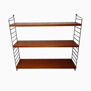 Mid-Century Mahogany Shelves by Nisse Strinning for String, 1960s