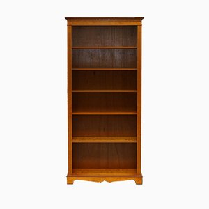 Solid Walnut Library Bookcase with Adjustable Shelves, 1980s