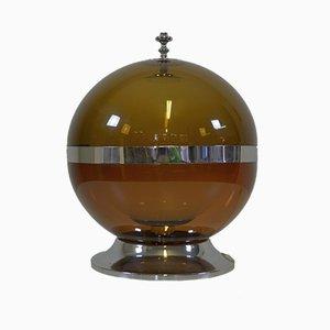 Lampe de Bureau Space Age en Verre et en Plexiglas, 1970s