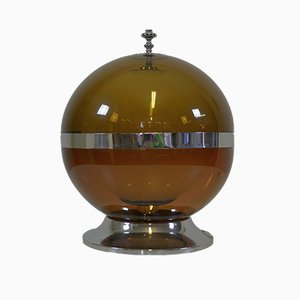 Space Age Glass and Plexiglas Table Lamp, 1970s