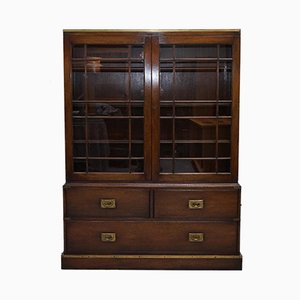Mahogany Campaign Bookcase from Kennedy Furniture, 1920s