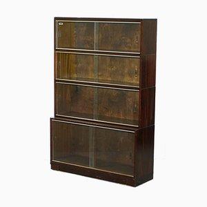Librerías modulares apilables antiguas de caoba de Minty. Juego de 3