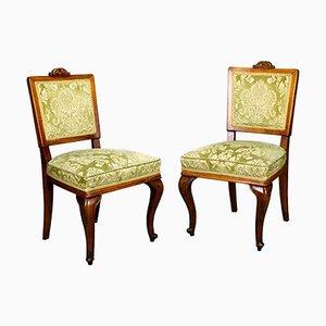 Antike Beistellstühle aus Obstholz, 1900er, 2er Set