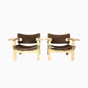 Spanische Sessel von Børge Mogensen für Fredericia, 2008, 2er Set