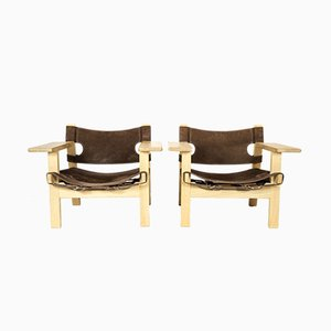 Spanish Armchairs by Børge Mogensen for Fredericia, 2008, Set of 2