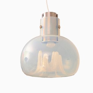 Italian Murano Opaline Glass Pendant Lamp by Toni Zuccheri for VeArt, 1970s
