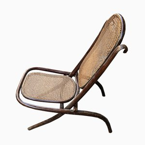 Antique Recliner Lounge Chair by Michael Thonet