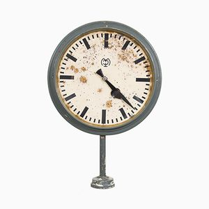 Antique Double-Sided Train Station Clock