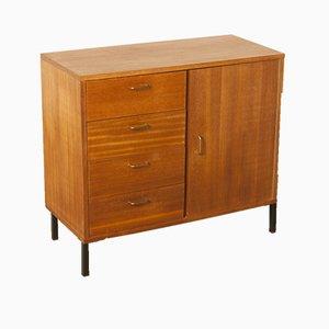Teak Veneer Drawer Cabinet with One Door, 1960s