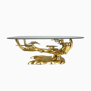 Table Basse Bonsai en Bronze par Willy Daro, 1980s