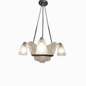 Lámpara de techo Art Déco de David Gueron para Cristalleries de Compiègne