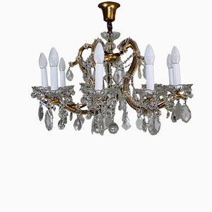 Grand Lustre Viennois Antique en Cristal