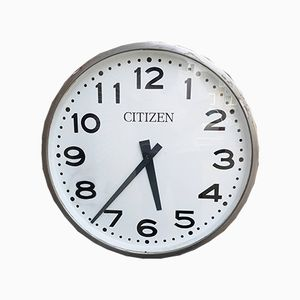 Large Vintage Japanese Station Clock from Citizen, 1960s