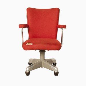 Sedia da ufficio President nr. 357 rossa di Ch. Hoffmann per Gispen, anni '50