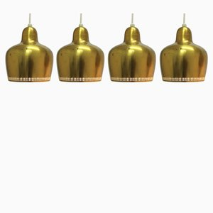 Model 16531 Aaltopendant Lamps by Alvar Aalto for Louis Poulsen, 1960s, Set of 4