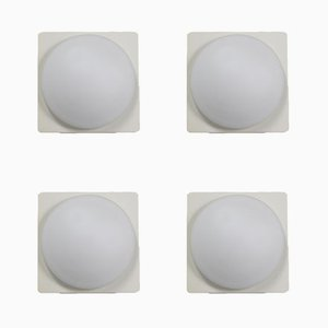 Vintage Ceiling or Wall Lights, 1960s, Set of 4