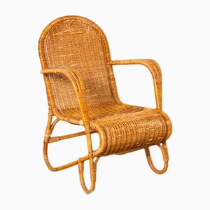 Rattan Armchair from Ridzon, 1950s