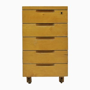 Lacquered Birch Desk Cabinet by Alvar Aalto for Artek, 1950s