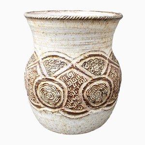 Jarrón de cerámica decorada de Marcel Giraud, años 60